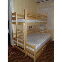 Кровать Трио из массива ольхи