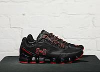 Кроссовки Under Armour Scorpio Running shoes black/orange. Живое фото (Реплика ААА+)