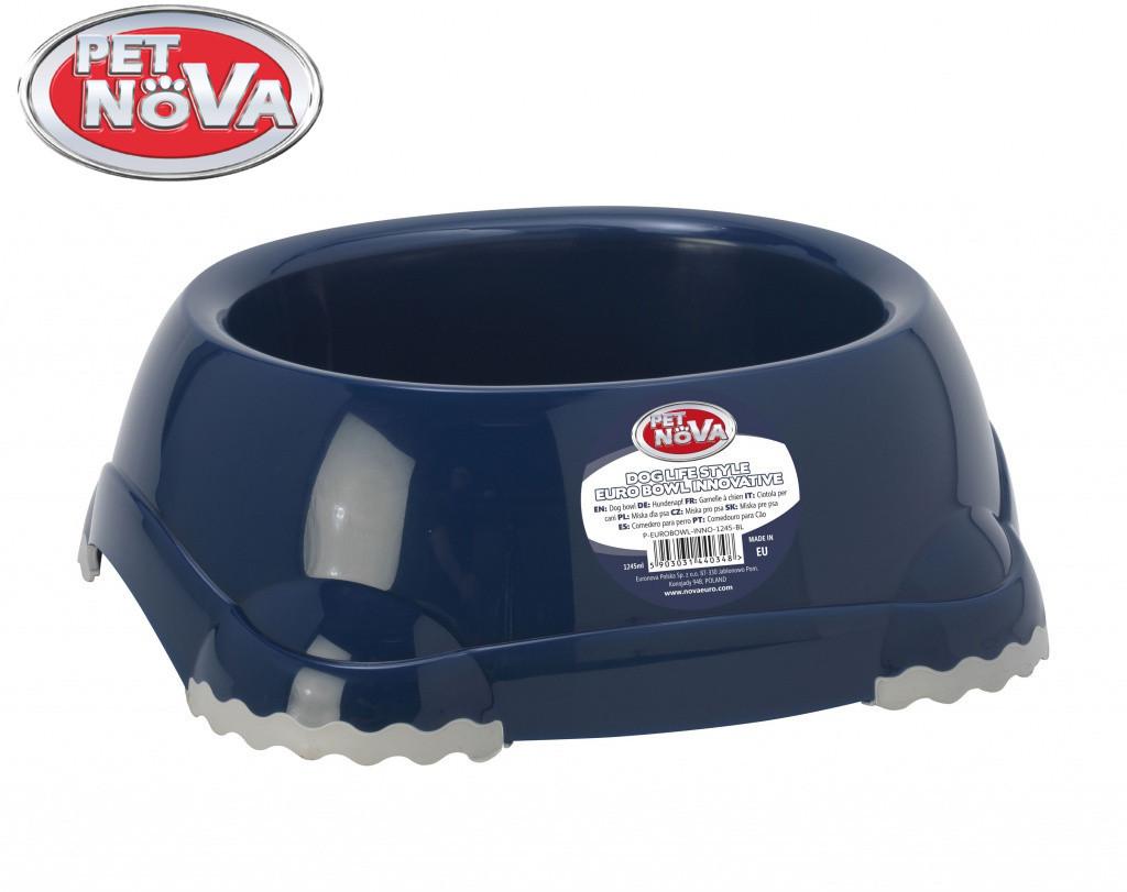 Миска нескользящая для собак Pet Nova 1.25 л Синяя