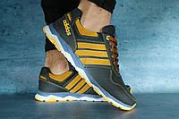 Мужские кроссовки Adidas Синий/Рыжий ЛК692