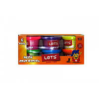 L8346 Lets Набор массы для лепки: 6 баночки по 100гр -неоновые цвета