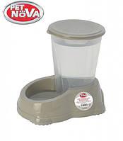 Автоматическая поилка для собак PetNova 3 л Серый