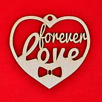 """Фигура из фанеры 0.3 """"Forever love"""", 11*10см, 741941"""