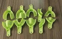 Ложки оттискные зеленые с перфорацией (1 уп. - 10 разных ложек).