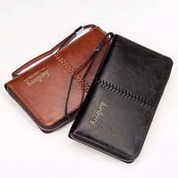 Мужской портмоне Клатч Baellerry Leather - (цв.Черный или цв.Коричн)!