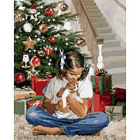 "VP785 Картина по номерам ""Рождественский подарок"", 40*50 см, Babylon Turbo"