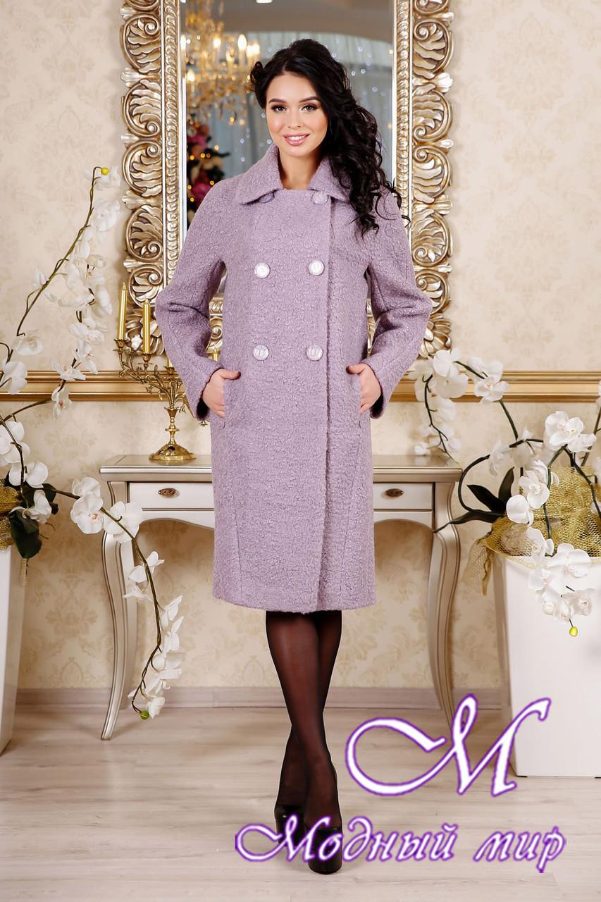 Женское демисезонное сиреневое пальто (р. 44-54) арт. 1088 Тон 46