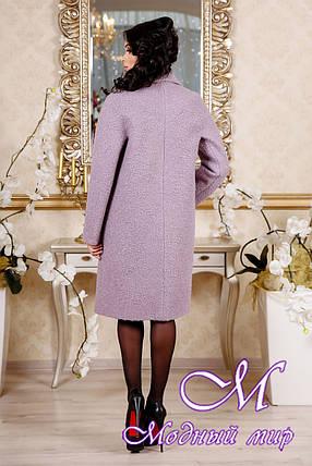Женское демисезонное сиреневое пальто (р. 44-54) арт. 1088 Тон 46, фото 2