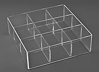 Акриловая коробка на 9 ячеек