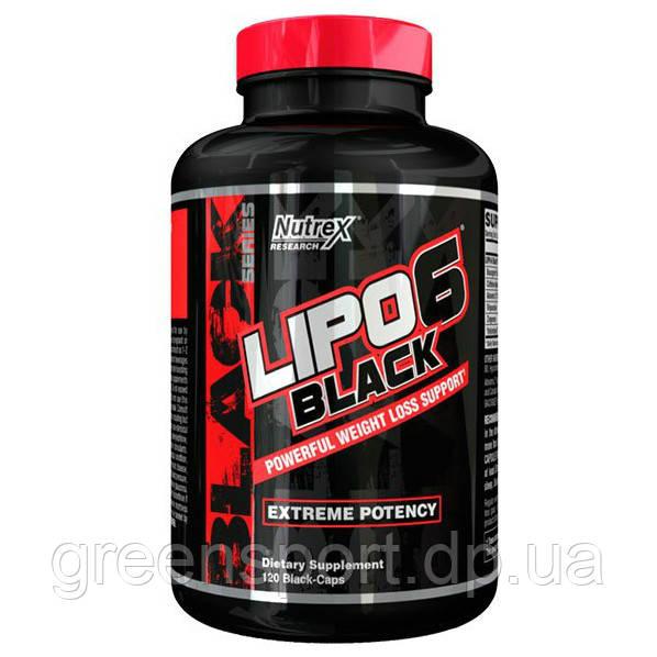 Жиросжигатель для спортсменов Nutrex Lipo-6 Black (120 капс.)