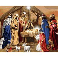 "VP789 Картина по номерам ""Рождение Иисуса"", 40*50 см, Babylon Turbo"