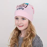 Легкая шапка для девочек сезон весна 2018 оптом - Pretty Girl - Артикул 2204