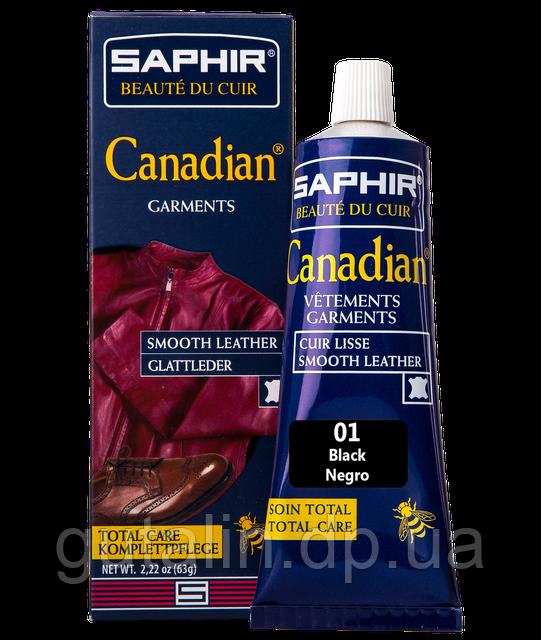 Крем-краска с защитными свойствами Saphir Canadian 75 мл цвет черный (01)