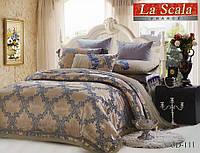 Комплект постельного белья шелковый жаккард La scala 3D-111