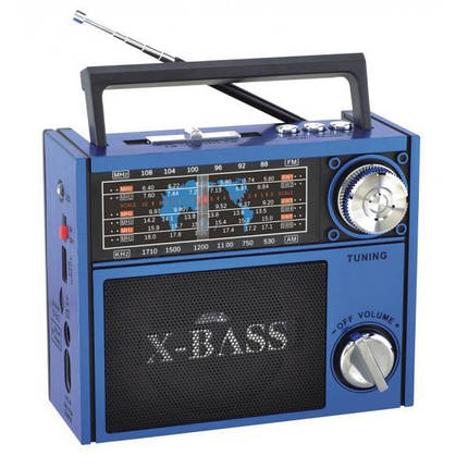 Радиоприемник колонка MP3 Golon RX-201 Blue, фото 2
