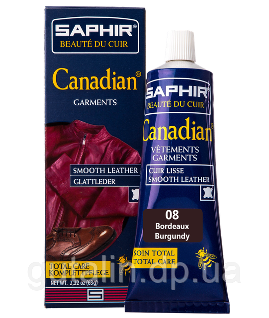 Крем-краска с защитными свойствами Saphir Canadian 75 мл цвет бордовый (08)