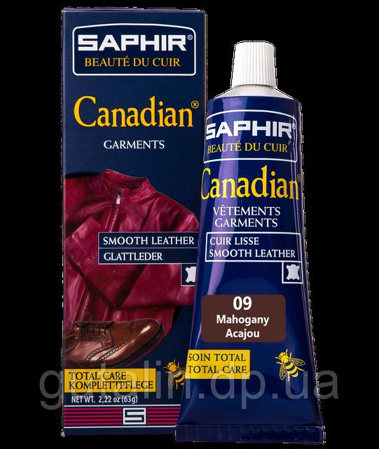 Крем-фарба з захисними властивостями Saphir Canadian 75 мл колір махагон (09)