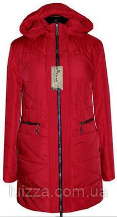 Женская демисезонная куртка  68. 70. рр красный, фото 2