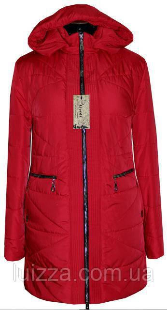 Женская демисезонная куртка  68. 70. рр красный