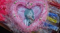 Фоторамка Сердце со стразами 15*15 см, декоративная фоторамка Валентинка