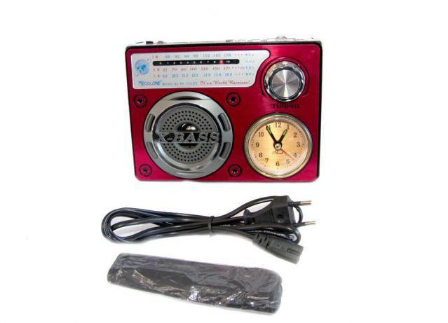 Радиоприемник колонка часы MP3 Golon RX-722LED Red