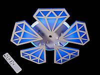 Светодиодная люстра с пультом-диммером и синей подсветкой белая 8101-5, фото 1