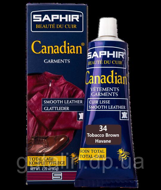 Крем-фарба з захисними властивостями Saphir Canadian 75 мл колір тютюн (34)