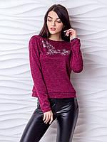 Трикотажный свитер с открытой спиной