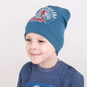Легкая шапка для мальчика на весну 2018 оптом - Motobiker - Артикул 2211