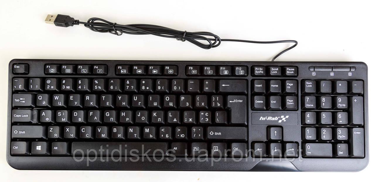 Клавиатура Hi-Rali HI-KB2023, USB, черная