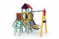 Детский игровой комплекс Заец, высота горки 1,2 м