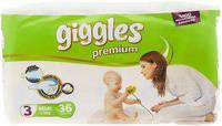 """Подгузники для детей """"GIGGLES"""" Premium Миди 4-9 кг №48"""