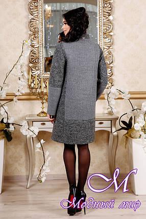 Демисезонное женское пальто серого цвета (р. 44-54) арт. 1092 Тон 5, фото 2