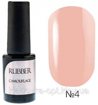 БАЗА ДЛЯ ГЕЛЬ-ЛАКА NAOMI RUBBER COMOUFLAGE BASE COAT № 4, 6 МЛ, фото 2
