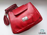 Сумка-рюкзак классического стиля , красная Уценка