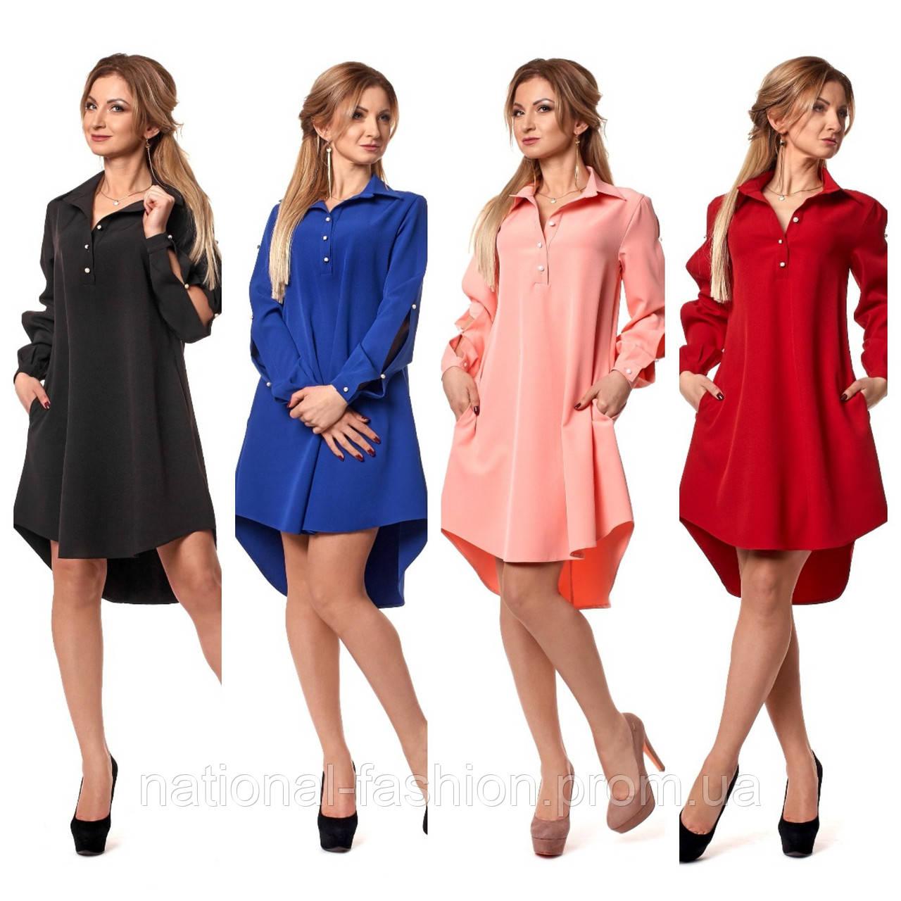 Женское платье рубашка №1051 (р.44-50)