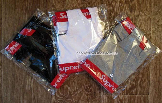 Комплект женского нижнего белья Supreme топ и стринги чёрный, фото 2