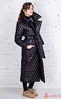 Женский стеганный плащ, одежда от дизайнера