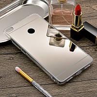 Чехол Xiaomi Mi Max 2 / Mi Max 2 Pro силикон зеркальный металлик