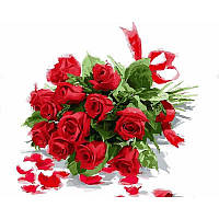 """VP799 Картина по номерам """"Букет красных роз"""", 40*50 см, Babylon Turbo"""