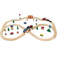 Развивающая игрушка Viga Toys Железная дорога 49 деталей (56304)