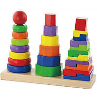 Развивающая игрушка Viga Toys Пирамидка (50567)