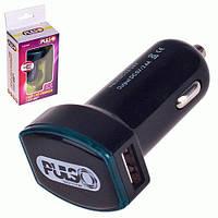 Автомобильное зарядное устройство Оригинал PULSO C-2026BK, 2USB (12/24V-5V 2,4A), USB удлинитель в авто