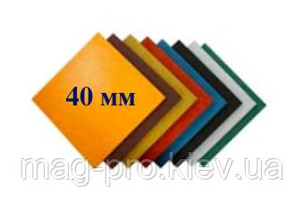Резиновая плитка Standard 500*500*40 мм, фото 2
