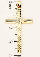 """Кулон ХР Позолота 18K """"Латинский Крест Декор Геометрический Орнамент"""""""