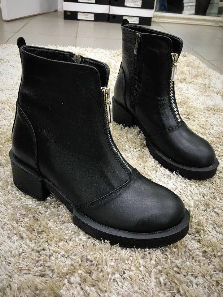 40 размер! Зимние и комфортные ботиночки, спереди на молнии