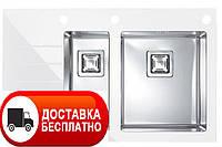 Кухонная мойка Alveus Crystalix 20R white I 86*54
