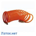 Шланг воздушный ПВХ спиральный с быстроразъемным соединением 6х8мм 10м PT-1704 Intertool