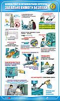 Стенд. Охорона праці на металообробних верстатах. Загальні вимоги безпеки. 0,6х1,0. Пластик