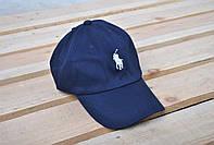 мужская синяя кепка/бейсболка поло (Polo)